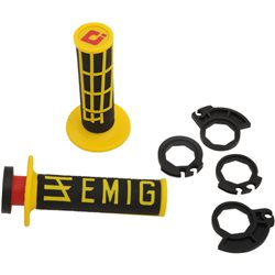 Odi V2 Emig Lock On Grip System Griffe black/yellow gelb