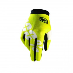 100% iTrack Glove Neon Yellow