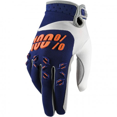 100% Airmatic Glove Navy Orange