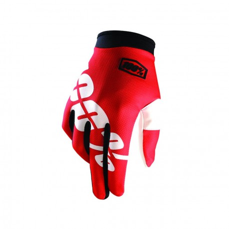 100% iTrack Glove Fire Red