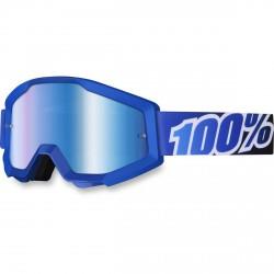 100% Strata Mx Goggle Blue Lagoon, Mirror Blue Lens