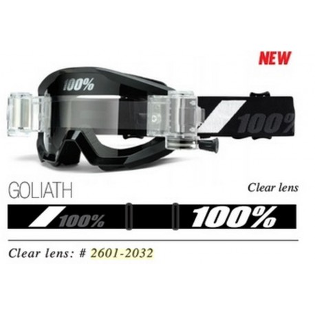 100% Strata Goliath with Mud System, Mirror Clear Lens