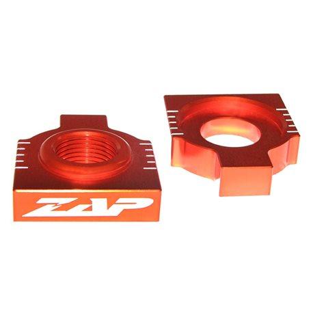 ZAP Achsblöcke KTM SX(F) 2013- orange eloxiert